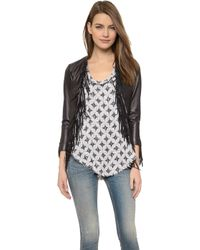 Rebecca Minkoff Ace Leather Jacket - White - Lyst