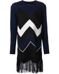 Timo Weiland - Chevron Fringe Jumper Top - Lyst