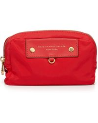 Marc By Marc Jacobs Preppy Nylon Madlan Cosmetic Case Cambridge Red - Lyst