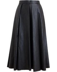 J.W. Anderson Eco Leather Pleated Skirt - Lyst