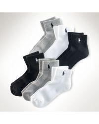 Ralph Lauren Ankle Sport Sock 6pack - Lyst