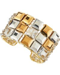 Panacea Square Crystal Cuff - Lyst