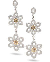 Coomi Opera Double-Flower Drop Earrings - Lyst