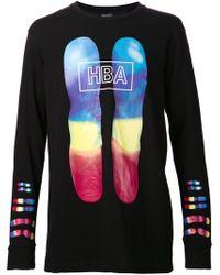 Hood By Air Black Graphic Tshirt - Lyst