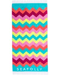 Seafolly Shimmer Ziggy Towel - Lyst