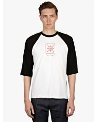 Gosha Rubchinskiy Mens Three Quarter Sleeve Printed Baseball Tshirt - Lyst