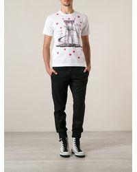 Comme Des Garçons Heart Print Tshirt - Lyst
