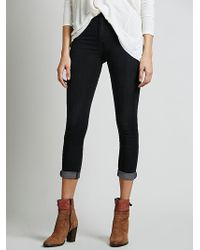 Free People High Rise Roller Skinny - Lyst
