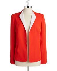 Jones New York Contrast Jacket - Lyst