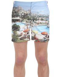 "Orlebar Brown ""Bulldog"" Printed Swimming Shorts - Lyst"