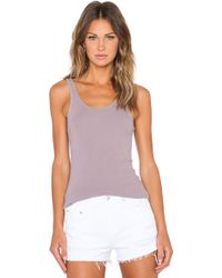 James Perse The Daily Tank purple - Lyst