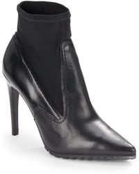 Tibi Vera Leather Ankle Boots - Lyst