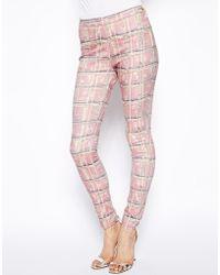 Twenty8Twelve - Devoto Inky Pink Print Jeans - Lyst