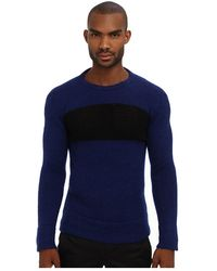 Costume National Mixed Knit Crewneck Sweater - Lyst
