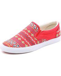 Bucketfeet - Vermillion Slip On Sneakers - Red - Lyst