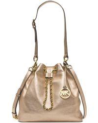 Michael Kors Frankie Large Metallic Leather Shoulder Bag - Lyst