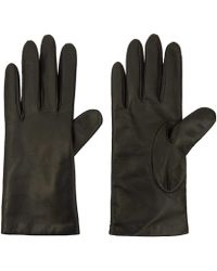 Portolano Small Black Basic Leather Gloves - Lyst
