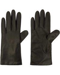 Portolano Small Black Basic Leather Gloves black - Lyst