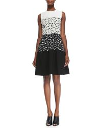 Narciso Rodriguez Sleeveless Dress W/ Solid Top & Bottom - Lyst
