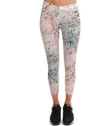 Nike Cropped Club Print Leggings - Lyst