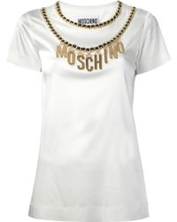 Moschino Chain Embellished T-Shirt - Lyst