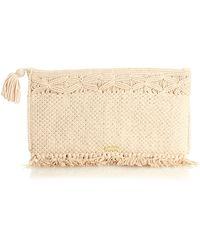 Melissa Odabash - Mauritius Woven-cotton Clutch - Lyst