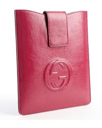 Gucci Pink Soho Leather Ipad Case - Lyst