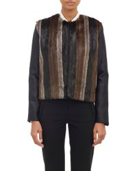 Wayne - Striped Faux-fur Jacket - Lyst