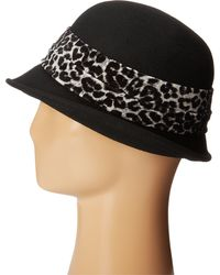 Scala Wool Felt Cloche W/ Animal Print Band - Lyst