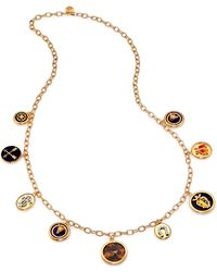 Tory Burch Dellora Charm Necklace - Lyst