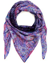 Liberty London Multicolour Shangri-La Silk Chiffon Scarf - Lyst