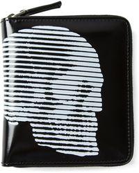 Alexander McQueen Skull Zip Around Wallet - Lyst