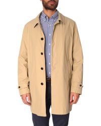 Gant Beige Waterproof With Contrasting Collar - Lyst