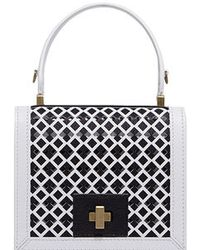 Vionnet - Leather Diamond Shoulder Bag - Lyst