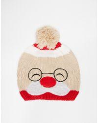 Asos Christmas Santa Beanie - Lyst