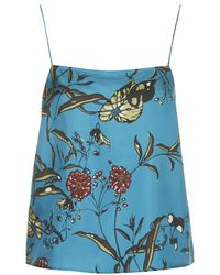 Topshop Fable Print Silk Cami by Boutique - Lyst