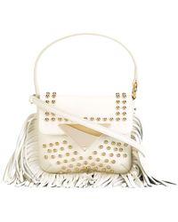 Sara Battaglia | Cutie Fringed Leather Crossbody Bag | Lyst