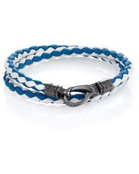 Tod's Leather Double-Wrapped Bracelet - Lyst
