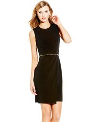 Vince Camuto Bodycon Crepe Dress - Lyst