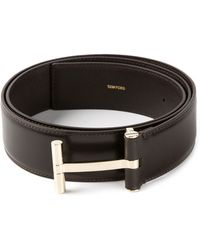 Tom Ford Galvanised Buckle Belt - Lyst