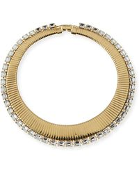 R.j. Graziano - Colalr Necklace W Clear Ston - Lyst