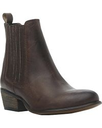 Steve Madden Leather Ankle Boots - For Women - Lyst