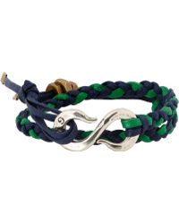 Giles & Brother Braided Leather Bracelet With Hook Clasp - Lyst