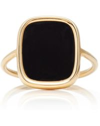 Ginette Ny Antique Black Onyx Ring - Lyst
