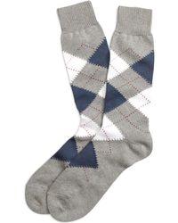 Brooks Brothers Argyle Crew Socks - Lyst