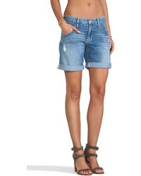 True Religion Miles Rolled Short - Lyst