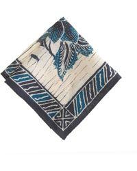 J.Crew - Cotton Pocket Square in Ultramarine Bandana Print - Lyst