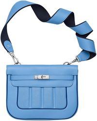hermes replica birkin handbags - Herm��s Bolide in Blue (Saint-Cyr blue) | Lyst