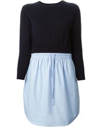 Carven 'Oxford' Contrast Dress - Lyst