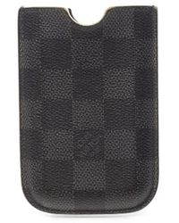 Louis Vuitton Preowned Damier Graphite Cell Phone Case - Lyst